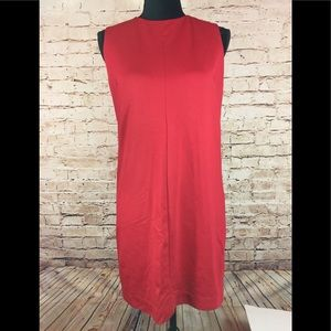 UNIQLO Red Dress Shift Career Casual Slip Dress L